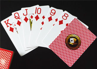 0.3mm Casino Plastic Playing Cards , 63*88mm Matt Finish Plastic Deck of Cards