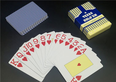 China 0.3 0.32mm Thickness Matt Varnish Casino Playing Cards Full color Plastic Material supplier