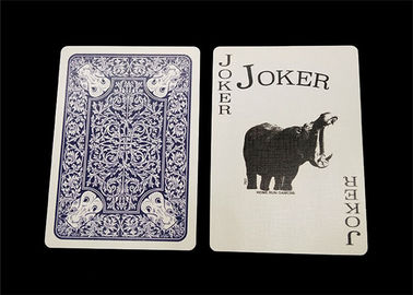 Personalized All Plastic Playing Cards 0.3mm / 0.32mm Thickness Optional