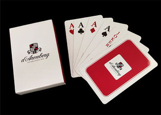 100 Percent PVC Plastic Playing Cards , Washable Jumbo Index Poker Playing Cards