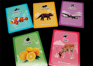 Paper Custom Memory Game Cards / Early Learning Flash Cards with Color Box