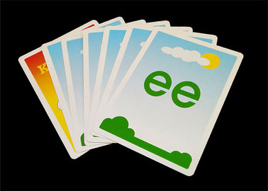 Personalized Kids Educational Flash Cards , Glossy / Matt Paper Preschool Flashcards