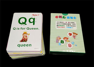 OEM Paper Animal Flash Cards / Children Memory Baby Learning Cards