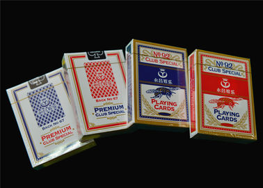 OEM Printed Personalized Poker Cards 0.3 - 0.32mm Plastic PVC Material
