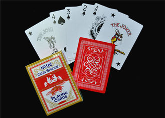 UV Coating Embossing Casino Quality Poker Cards / Casino Club Cards