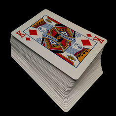 CMYK or pan - tone Color Personalized Poker Cards , Magic Poker Playing Cards