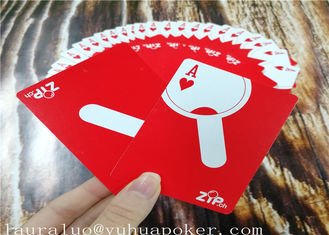 350 Gsm Art Paper Poker Playing Cards 2.25 X 3.5 Inch YH6 Both Sides 4C Custom