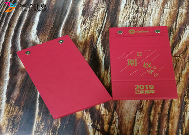 80gsm Paper Table Calendar Printing Services YH8 Spiral Binding 365 Pages Paper