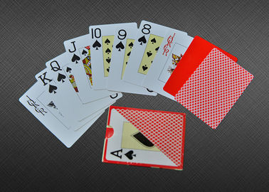 Home Plastic Coated Playing Cards , 100% Plastic Custom Playing Cards PMS Color