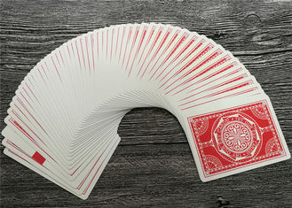 Size 63 x 88 MM Casino Playing Cards German Blackcore Paper Linen