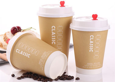 Durable Single Wall Paper Cups / 10oz 7oz 12oz Disposable Coffee Paper Cup