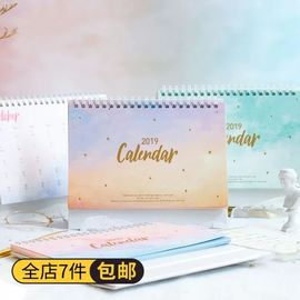 Chinese Diy Standard Stand Desk Calendar Planner For Office With Notepad And Label