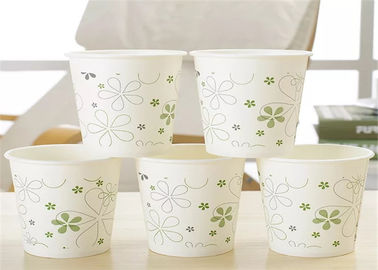 White Disposable Custom Paper Cups Recycled Waxed Pe Hot 8 Oz Single Ripple Double Wall