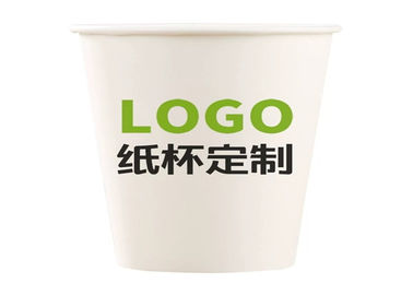Custom Party Hot Cold Drink 4oz Paper Cups Single Wall For Restaurant
