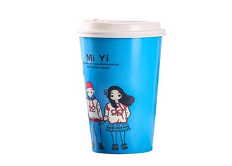 Eco Friendly Coffee Paper Cups / Foam Disposable Cups With PLA Lid