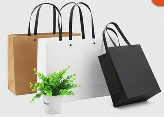 Custom Color Printing Paper Gift Bags With PP Rope Handle For Apparel Shop