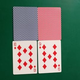 Double Sided Custom 52 Cards For Games , Paper Printed Poker Cards 4+4c Color