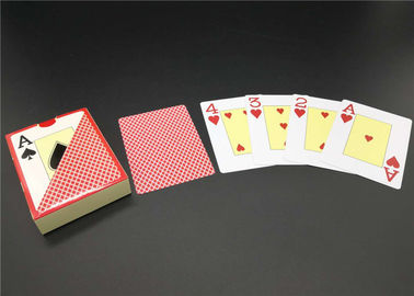 0.3 0.32mm Thickness Matt Varnish Casino Playing Cards Full color Plastic Material