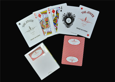 China Personalised Casino Playing Cards , Adult Party Game Gambling Poker Cards factory