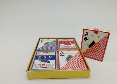 Custom Design Casino Plastic Playing Cards YH18 Both Side Matte Finish