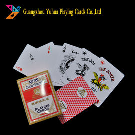 China Both Side Used Casino Playing Cards Custom Printing 310gsm Black Core Paper factory