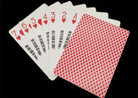 Linen Finish Casino Playing Cards Black Core Paper Material with UV Sign