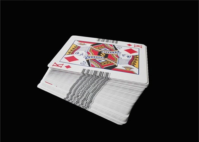 Black Core Casino Quality Playing Cards Paper Linen Matt Varnish with Standard Poker Size