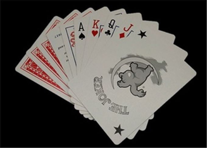 Printable PVC Waterproof Casino Club Cards Foldable Resistance Standard Poker Size